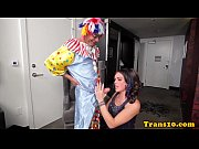 beautiful tranny fucked by black clown