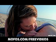 beautiful brunette amateur sucks and fucks at the beach