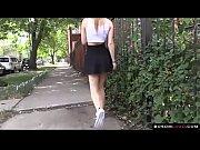 Upskirt flashing pussy in public