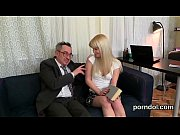 cuddly college girl gets teased and drilled by.