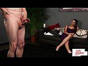 Teasing beauty humiliating naked sub