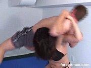 powerful mistress wrestles against a weak.