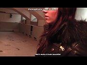 lovely red-haired girl sucks in the basement