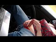 Лезбиянка лапает девушку во втобусе