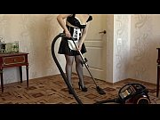 a maid vacuum cleaner and masturbates.