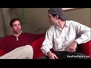two gay guys have fun sucking hard cock.