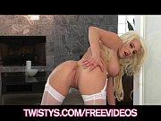 big-tit blonde spencer scotts shows off her lingerie.