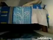 Страстная мамаша трахается на кровати с другом сына