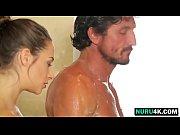 shower pounding for brunette masseuse cassidy.