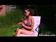 Vibrant Juicy Smoking Woman Rammed