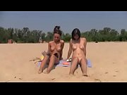 Teen nudist friends play on beach - SlutCams69.com