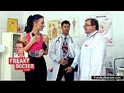 hot brunette monika went to gynecology.