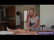 MILF teaches hard sex to teen couple on massage table