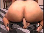 curvy latina rides dildo on dresser - more.