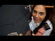 Pretty stewardess nailed at the pawnshop