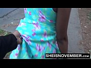 blonde young ebony in street blowjob sloppy head.