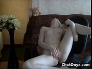 Horny Blonde Russian With Small Tits Fingering