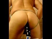 joey anal black dildo in butt