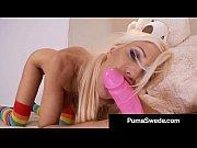 dildo banging euro babe puma swede pounds her.