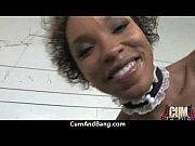 horny ebony bukkake gangbang 6