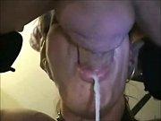 mature woman gives a sloppy blowjob