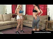 Asian Blonde Cristi Ann &_ Victoria Monet Double Fuck Dildo!