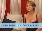 sexy shorthair blonde masturbation show with finger on webcam