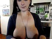 huge tits amateur milf squeezing breast.