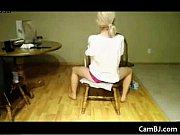 beautiful blonde on live webcam.