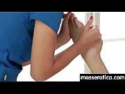 sensual lesbian massage leads to orgasm.