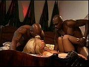 two gigantic black boners sharing blonde.