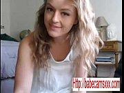 Amazing sexy blonde fucking dildo - www.babecamsxxx.com
