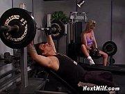 sporty blonde milf sucks power cock