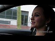 Petite Euro teen sucks and fucks in car