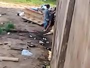 Garchando pendeja contra la pared en Santa Teresa (Rocha, Uruguay)