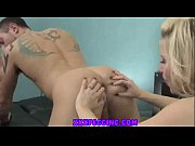 xxx hot blonde strapon pegging action