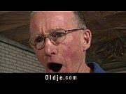 Grandpa fucks young hot girl pussy