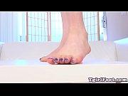 foot fetish tgirl teasing and flexing.