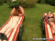 Outdoor sex scene with two sexy bitches