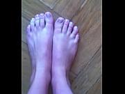 Girl shows her feet