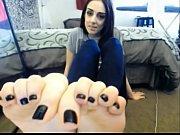 Cute Girl Teases Feet on Cam - FeetCams.net