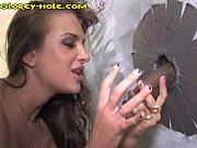 reign Girl Finds Gloryhole  Black Dick