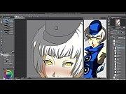 hentai speed painting - elizabeth (persona.