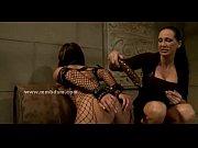 ponytail lesbian mistress enjoys spank