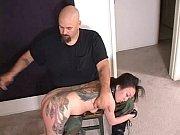 Tattoo Asian Whore SPANKED HARD!