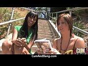 horny ebony bukkake gangbang 20