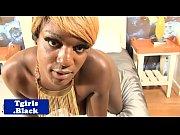 blonde ebony tranny jizz drenched