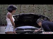 ebony ivy seducing her mechanic friend