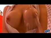 busty brunette teen getting wet white dress! perfect ass!!