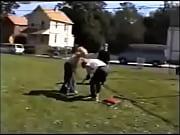 girl powerbomb on guy